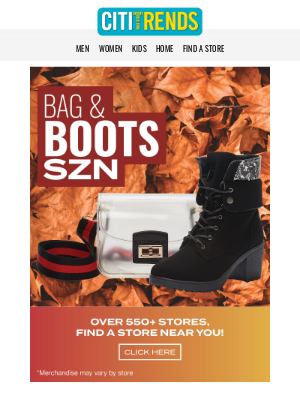 Citi Trends - Treat Yourself. New bags and boots in store now! 👢👜