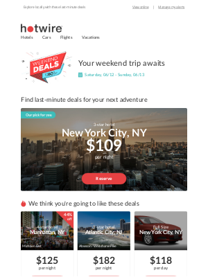 Hotwire - We're ready to welcome you back: sightsee local destinations with last-minute deals