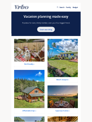 HomeAway - 8 family-sized vacations