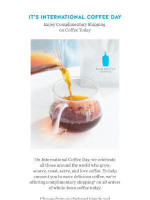 Blue Bottle Coffee - Today Only: Free Shipping on Whole-Bean Coffee