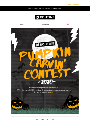 Routine Baseball - Routine Pumpkin Carving Contest