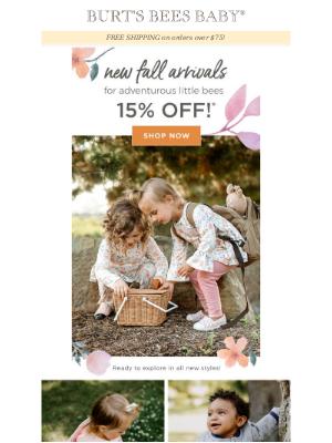 15% off *New* Fall Arrivals!! 🍁🍂