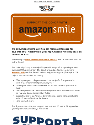 University Co-op - Support The Co-op with AmazonSmile