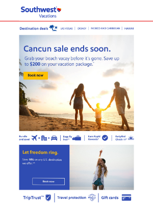 Southwest Vacations - 🔵 Only 2 days to go!