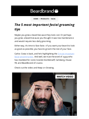 Beardbrand - The 5 most important facial grooming tips