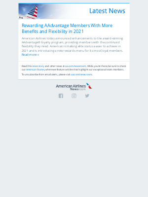 American Airlines - Rewarding AAdvantage Members With More Benefits and Flexibility in 2021
