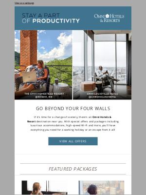 Omni Hotels & Resorts - Work or play? We look forward to welcoming you.