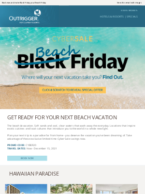 Outrigger Hotels - CYBER SALE 🏝️ Seas the day with 3rd night free and more