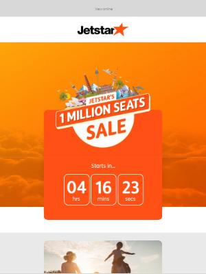 Jetstar Airways - ✈️ Our 1 Million Seats Sale is starting soon...
