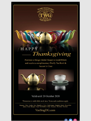 TWG Tea Canada - Specially Curated for Thanksgiving Day