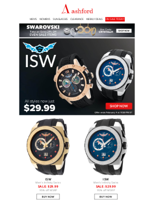 Ashford - ISW WATCHES | ALL STYLES NOW $29.99