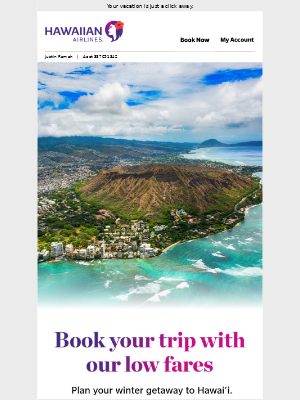 Find low fares to Hawai'i
