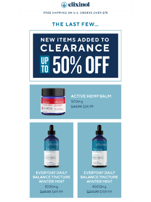 Elixinol - New Products Added to Clearance!