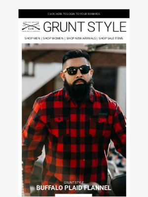 Grunt Style LLC - Buffalo Plaid Is Back