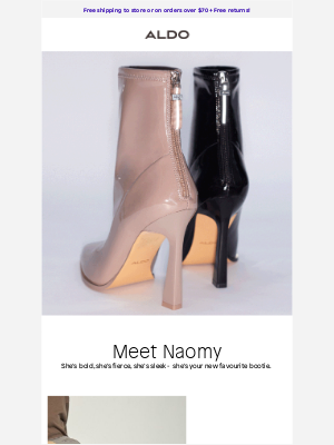 ALDO - Step up your boot game, introducing NAOMY