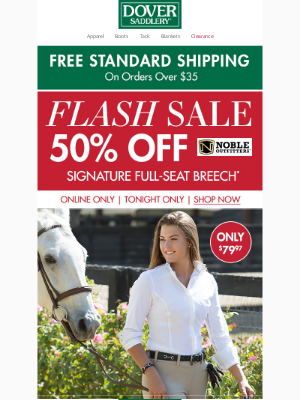 Dover Saddlery - Flattering & Comfortable: 50% Off The Signature Full-Seat Breech