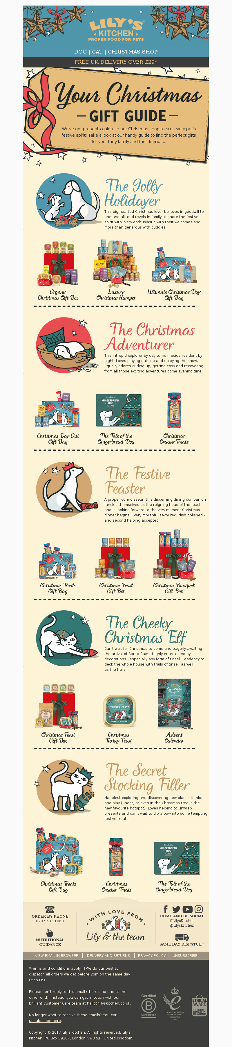 Lily's Kitchen (UK) - 🎁 The perfect gift for every pet 🎁