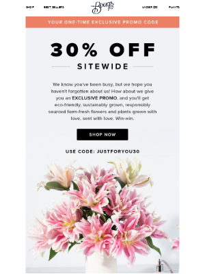 We Slipped You 30% Off