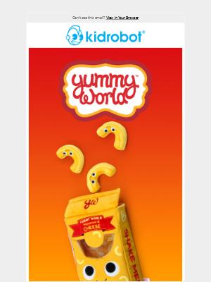 Kidrobot - Macaroni and Cheese Makes a Marvelous Plush Debut at Kidrobot.com