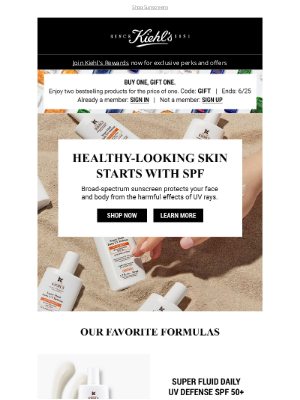 Kiehl's USA - SUNSCREEN = Essential Summer Skincare ☀️ + Savings Inside!