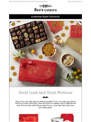 See's Candies - Send Them Good Fortune for the Year of the Ox! ✨