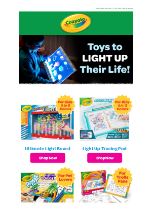 Crayola - All Is Bright! 💡 Open for TOYS