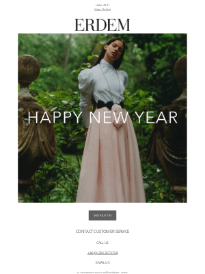 Erdem Moralioglu Ltd (UK) - Happy New Year from ERDEM