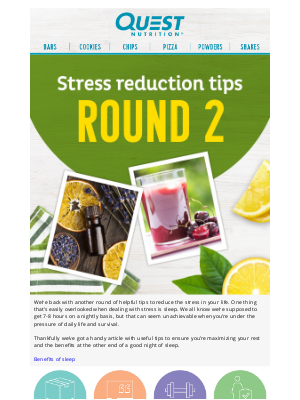 Quest Nutrition - More ways to reduce your stress with Quest