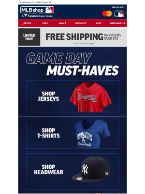 Mlbshop - MLB Must-Haves For Game Day Ship Free!