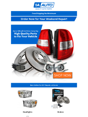 Yaris Not Running? Up to 50% off Parts for Your At-Home Repair!