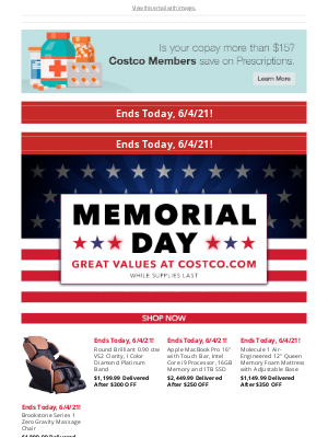 Costco - It's the Last Day for Select Memorial Day Savings! Shop Now!