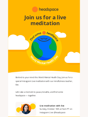 Headspace - Join us for a free live meditation