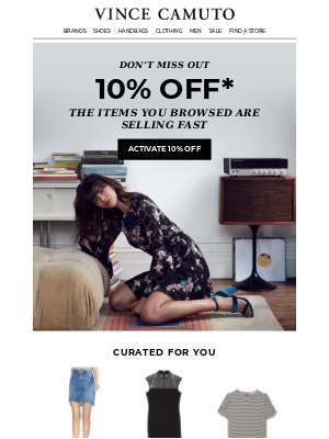 Get It, Or Regret It. 10% Off The Items You Were Browsing