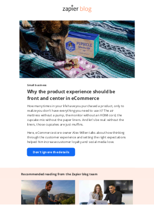 Zapier - Why the product experience should be front and center in eCommerce
