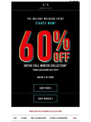 Weekend Sale STARTS NOW: TAKE 60% OFF!
