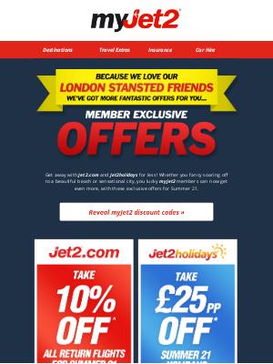 Jet2 (UK) - ★ Member exclusive offers...