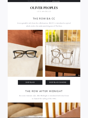 Oliver Peoples - New iconic optical styles from The Row