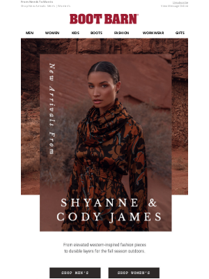 Boot Barn - New From Cody James & Shyanne