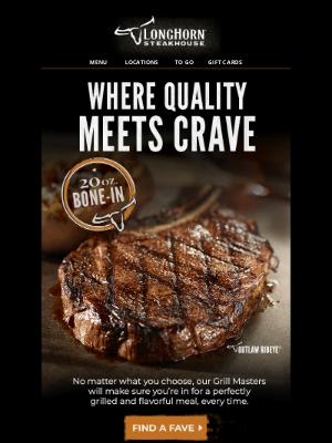 LongHorn Steakhouse - Need a dinner idea? We've got ③