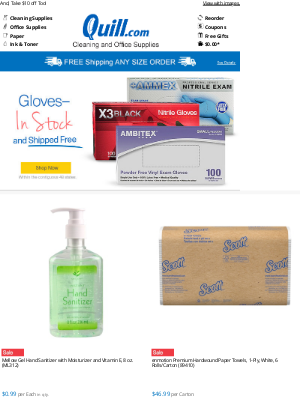 Quill - (1) NEW NOTIFICATION: These High-Demand Items Are on Sale >> Stock Up Now!