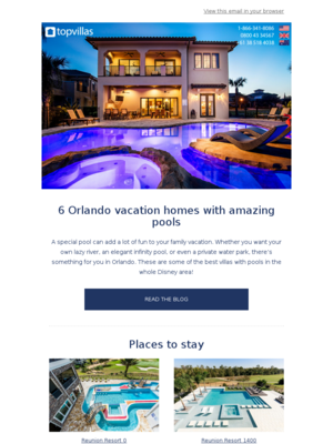Orlando vacation homes with amazing pools