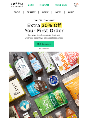 Here's an EXTRA 30% off to start Thriving!