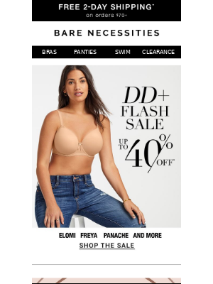 FLASH SALE Happening Now! Up to 40% Off Bras