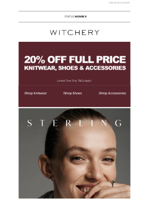 Witchery (AU) - TREASURE FOREVER: OUR STERLING SILVER RANGE.