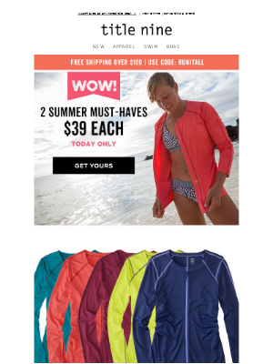 WOW! 2 summer steals, 1 DAY ONLY