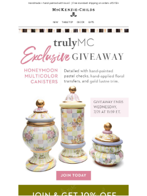 MacKenzie Childs LLC - Chance to win! Exclusive giveaway