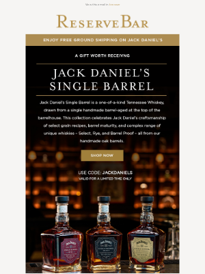 Reserve Bar - A Gift Worth Receiving | Jack Daniel's Single Barrel