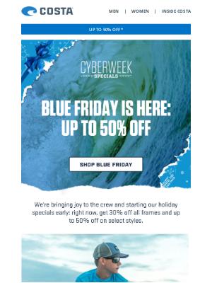 Costa Sunglasses - JOY TO THE CREW | Blue Friday Starts Now
