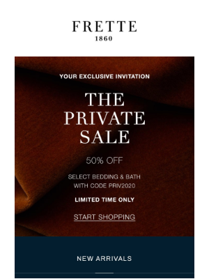 Frette - Private Sale | Ends Sunday