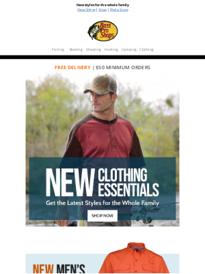 Bass Pro Shops - Clothing essentials for the warmer days ahead